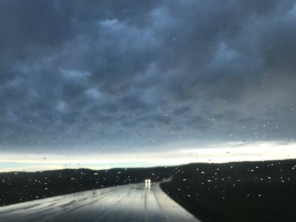 Sprinkling Rain at Dusk